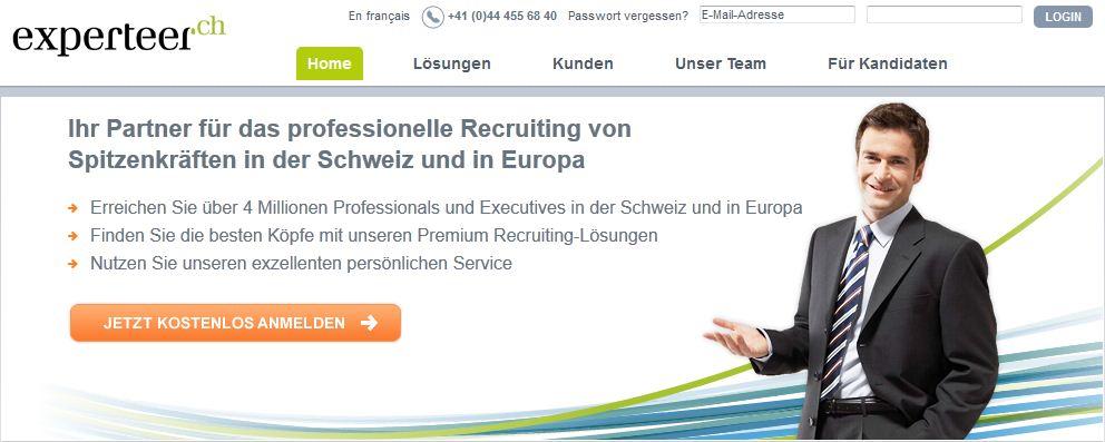 experteer. eRecruiting. Der Karrieredienst für die besten Köpfe der Schweiz