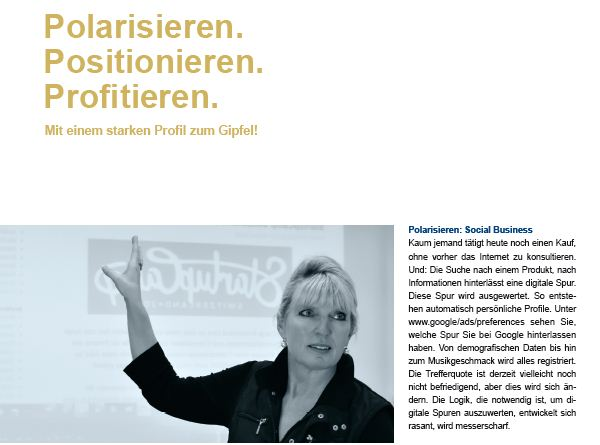 Artikel in Marketing & Sales Review. Prof. Martina Dalla Vecchia